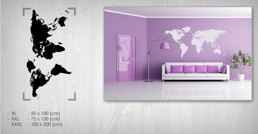 Nálepka na zeď Sleva 20% MAPA 50x100 cm NAMP002 / 24h - černá barva skladem