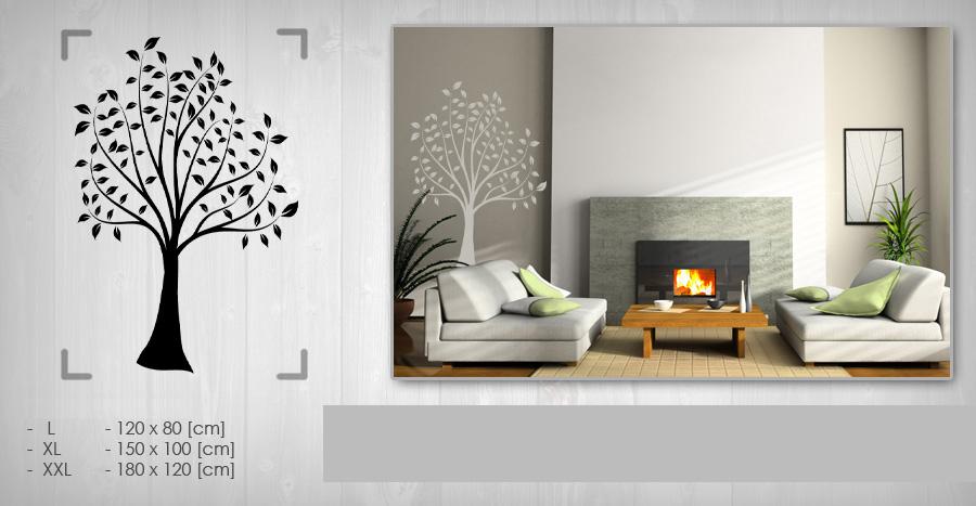 Nálepka na zeď STROM 120x180 cm NAS031 / 24h - černá barva skladem