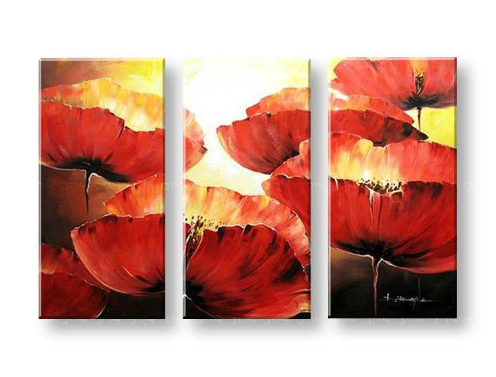 Levně Malovaný obraz na stěnu KVĚTINY 85x120 cm FB210E3 / 24h