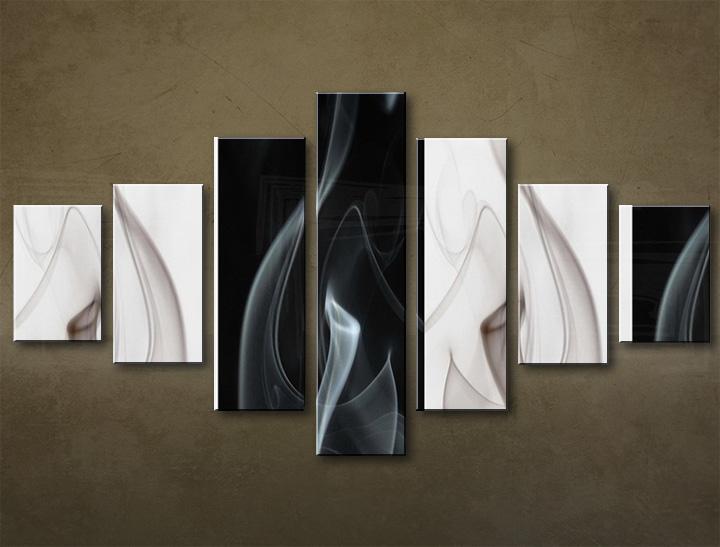 Obraz na plátně 7 dílný ABSTRAKT obrazy na stěnu
