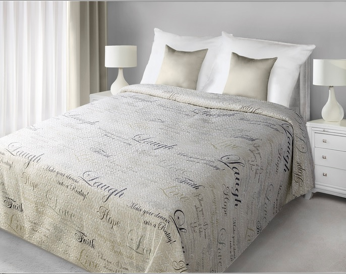 34c86ab8e322 Luxusní přehoz na postel WORDS 170x210 Luxusní přehoz