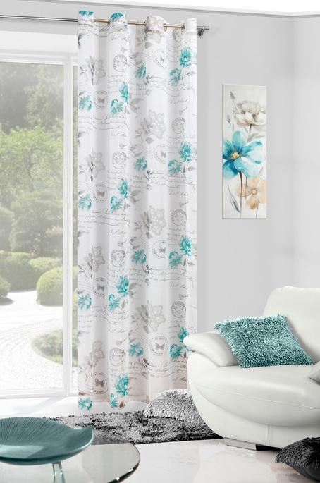 Luxusní květinová záclona 140x250 cm 1 ks v balení