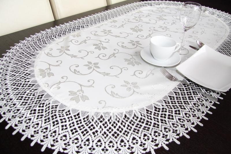 Elegantní ubrus bíly 90x150 cm kuchyňský textil