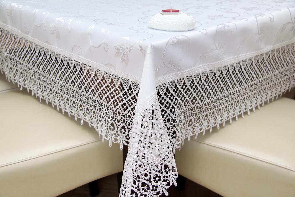 Elegantní ubrus bíly průměr 85cm kuchyňský textil