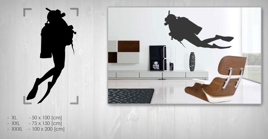 Nálepka na zeď POTÁPĚČI NAPT005 samolepky na zeď