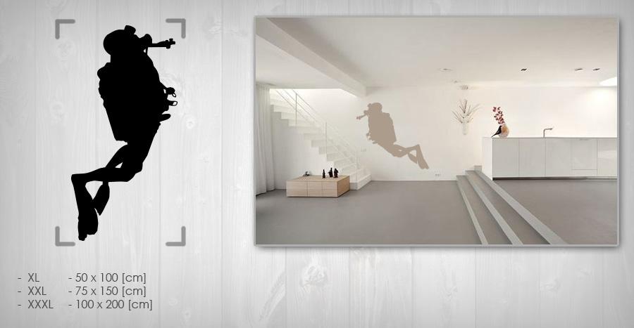 Nálepka na zeď POTÁPĚČI NAPT010 samolepky na zeď