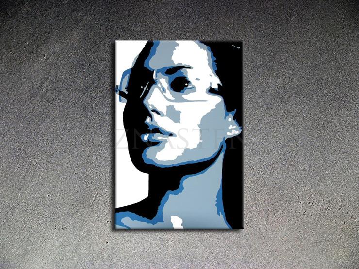 Ručně malovaný POP Art Angelina Jolie 1 dílný 70x100cm POP ART obrazy