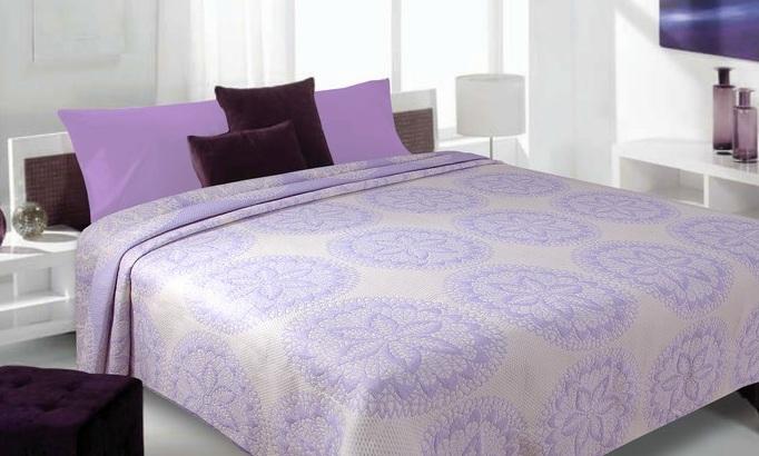 oboustranný luxusní přehoz krémově - hnědý se vzorem růží přehozy na postel