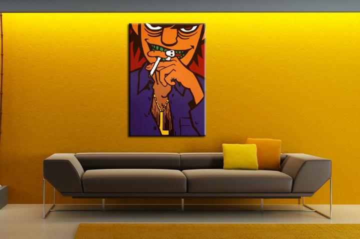 Levně Ručně malovaný POP Art Gorilazz 1 dílný 70x100cm