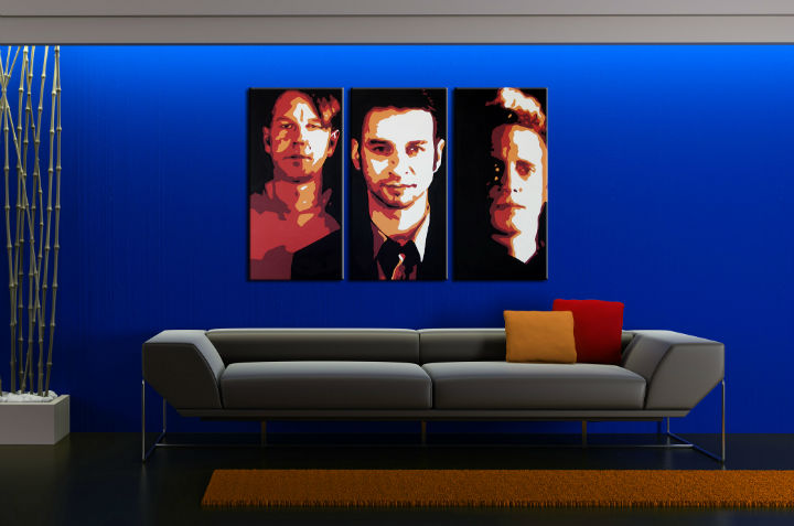 Ručně malovaný POP Art Depeche Mode 3 dílný 120x80cm POP ART obrazy