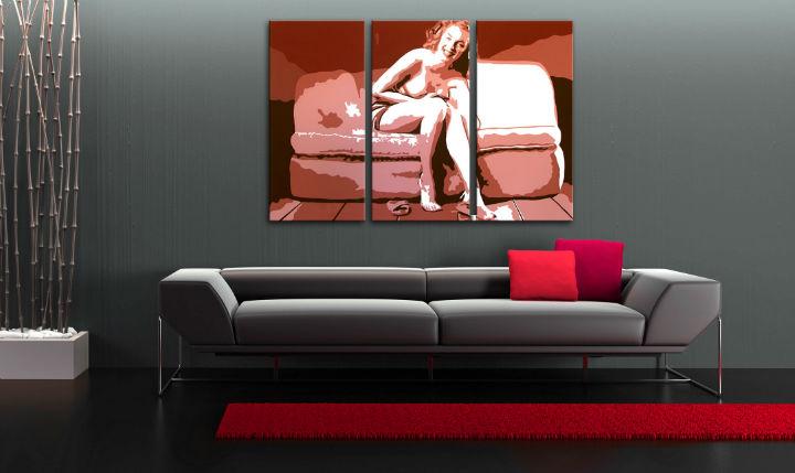Ručně malovaný POP Art Marilyn Monroe 3 dílný 120x80cm POP ART obrazy