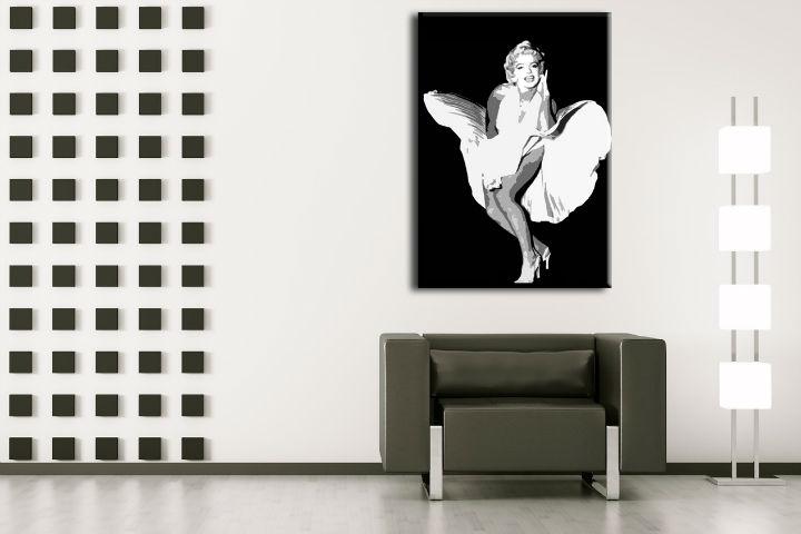 Ručně malovaný POP Art Marilyn Monroe 1 dílný 70x100cm POP ART obrazy