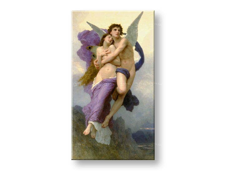 Obraz na plátně Sleva 60% THE Abduction OF Psych-W.Bouguereau 90x50 cm REP017