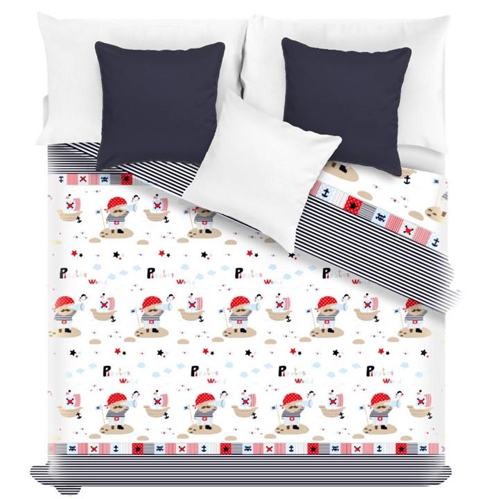 Levně Dětský přehoz na postel PIRATES 140 x 200 cm