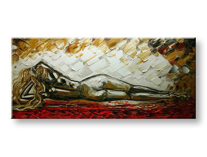Ručně malovaný obraz 1 dílný ŽENA BI0001E1 malované obrazy BIANCA
