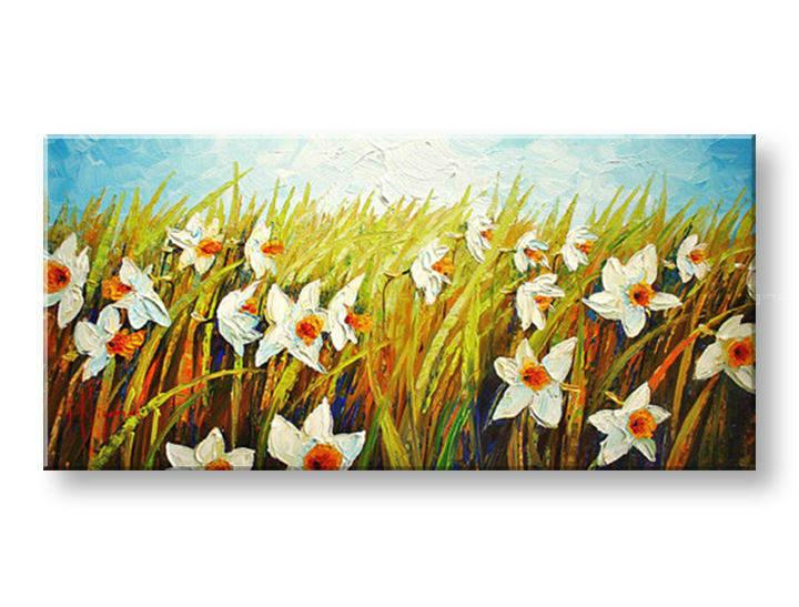 Ručně malovaný obraz 1 dílný KVĚTY BI0004E1 malované obrazy BIANCA