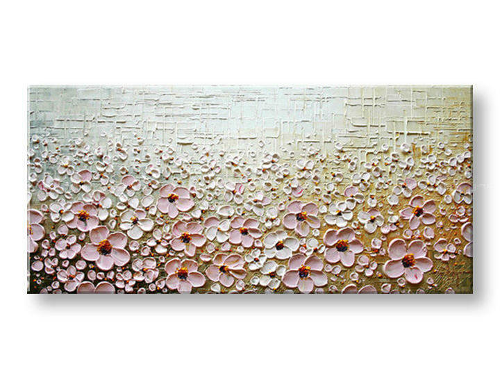 Ručně malovaný obraz 1 dílný KVĚTY BI0008E1 malované obrazy BIANCA