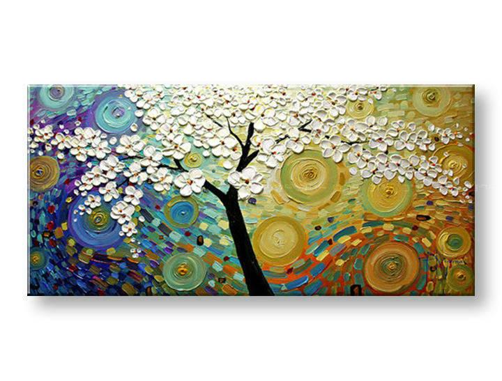 Ručně malovaný obraz 1 dílný STROM BI0011E1 malované obrazy BIANCA