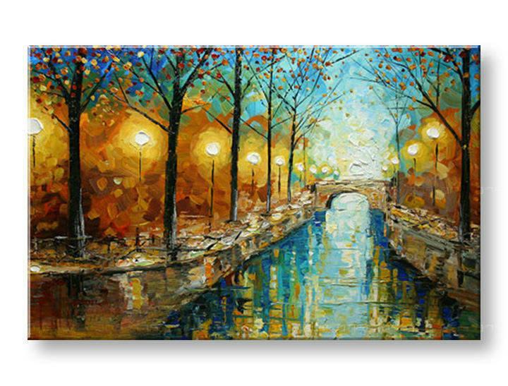Ručně malovaný obraz 1 dílný KRAJINA BI0012E1 f5505defce