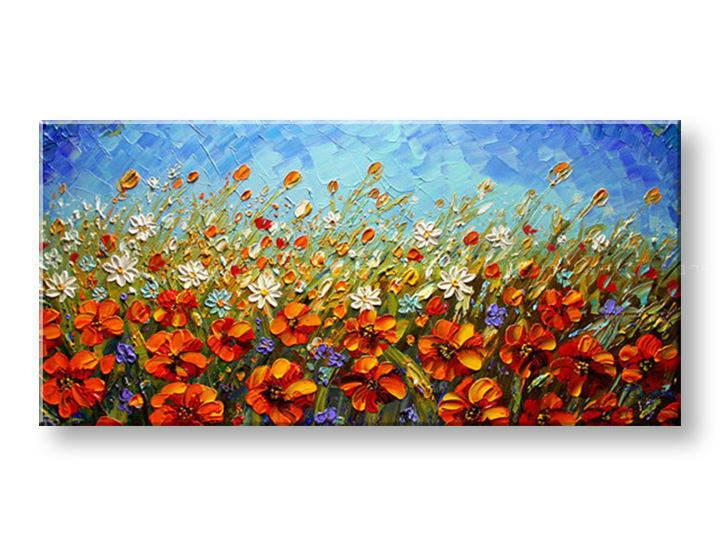 Ručně malovaný obraz 1 dílný KVĚTY BI0016E1 malované obrazy BIANCA