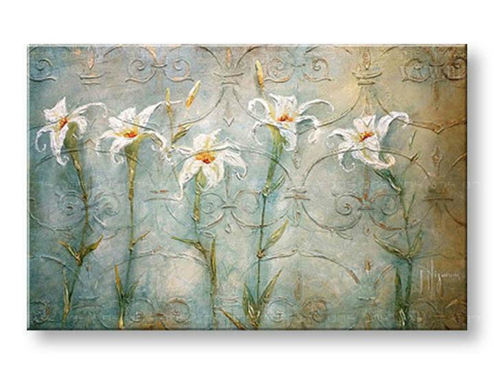 Ručně malovaný obraz 1 dílný KVĚTY BI0021E1 malované obrazy BIANCA
