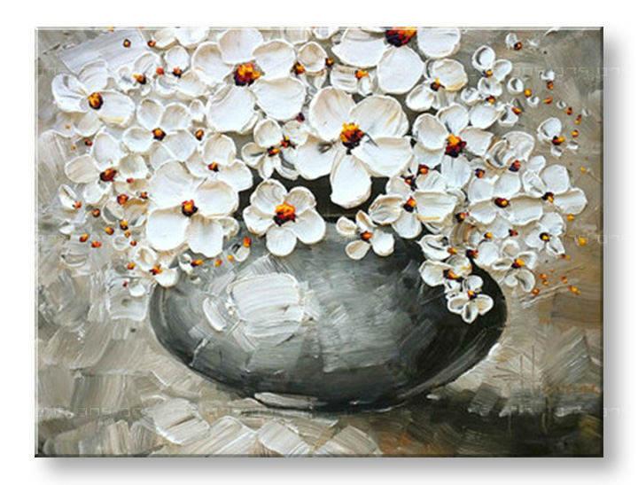 Ručně malovaný obraz 1 dílný KVĚTY BI0024E1 malované obrazy BIANCA