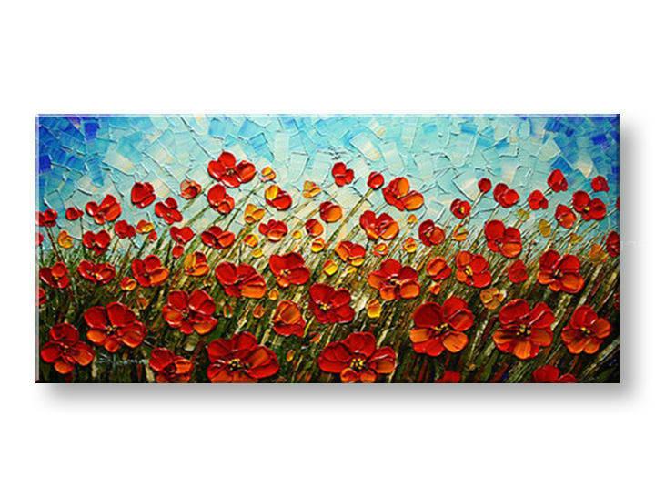 Ručně malovaný obraz 1 dílný KVĚTY BI0027E1 malované obrazy BIANCA