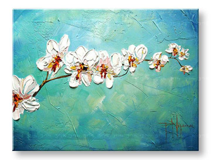 Ručně malovaný obraz 1 dílný KVĚTY BI0030E1 malované obrazy BIANCA