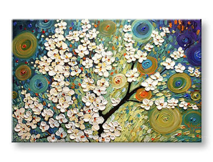 Ručně malovaný obraz 1 dílný STROM BI0031E1 malované obrazy BIANCA