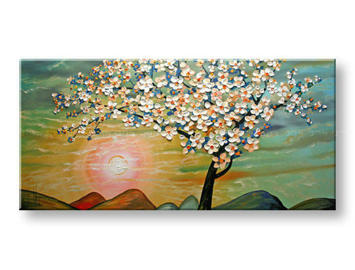 Ručně malovaný obraz 1 dílný STROM BI0034E1 malované obrazy BIANCA