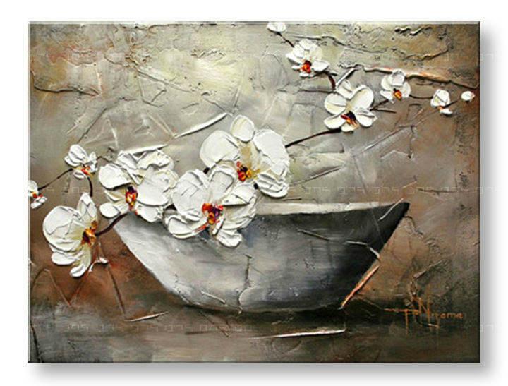 Ručně malovaný obraz 1 dílný KVĚTY BI0036E1 malované obrazy BIANCA
