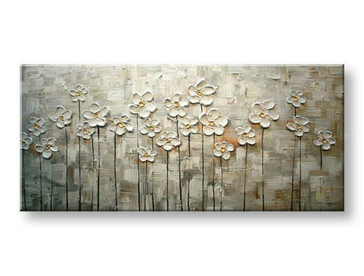 Ručně malovaný obraz 1 dílný KVĚTY BI0046E1 malované obrazy BIANCA