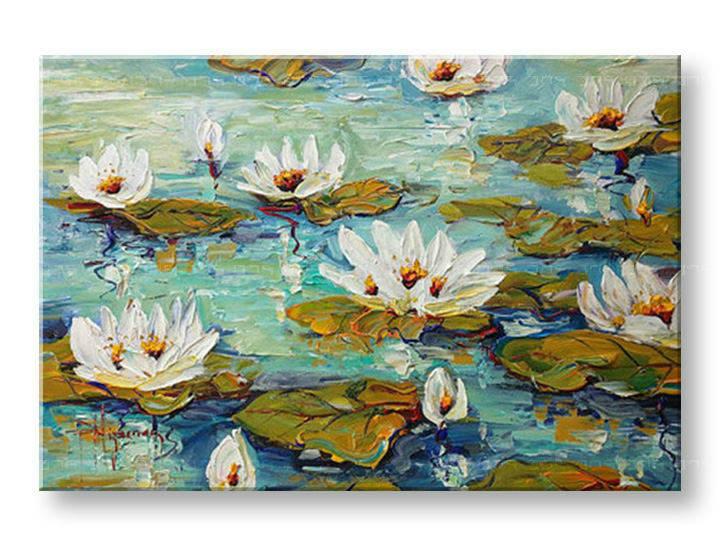 Ručně malovaný obraz 1 dílný KVĚTY BI0048E1 malované obrazy BIANCA