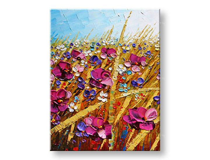 Ručně malovaný obraz 1 dílný KVĚTY BI0049E1 malované obrazy BIANCA