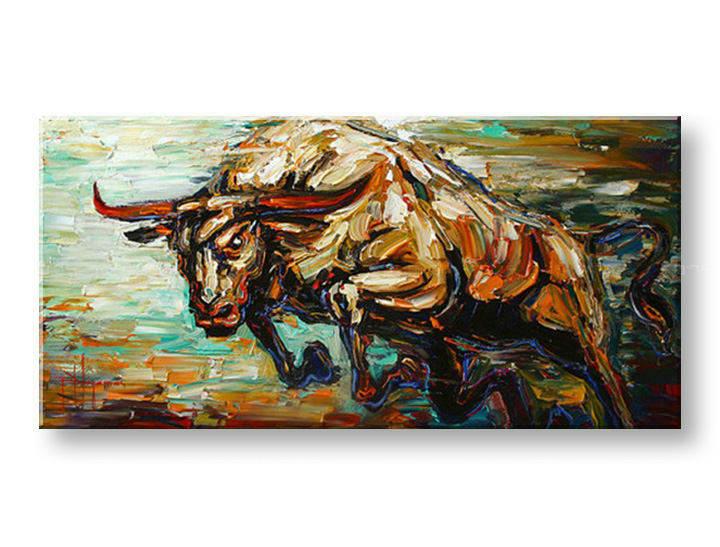 Ručně malovaný obraz 1 dílný ZVÍŘE BI0051E1 malované obrazy BIANCA