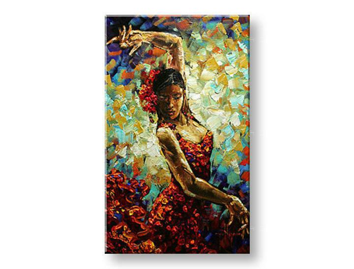 Ručně malovaný obraz 1 dílný ŽENA BI0052E1 malované obrazy BIANCA
