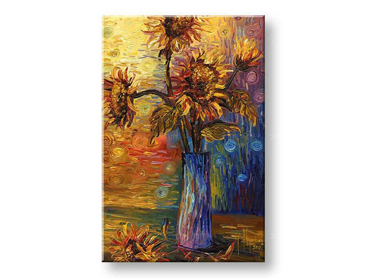 Ručně malovaný obraz 1 dílný KVĚTY BI0053E1 malované obrazy BIANCA