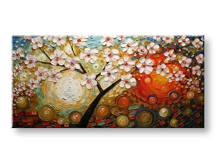 Ručně malovaný obraz 1 dílný STROM BI0055E1 malované obrazy BIANCA