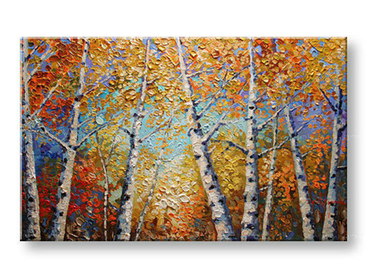 Ručně malovaný obraz 1 dílný STROMY BI0056E1 malované obrazy BIANCA