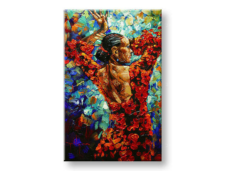 Ručně malovaný obraz 1 dílný ŽENA BI0058E1 malované obrazy BIANCA