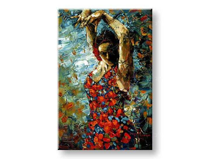 Ručně malovaný obraz 1 dílný ŽENA BI0059E1 malované obrazy BIANCA