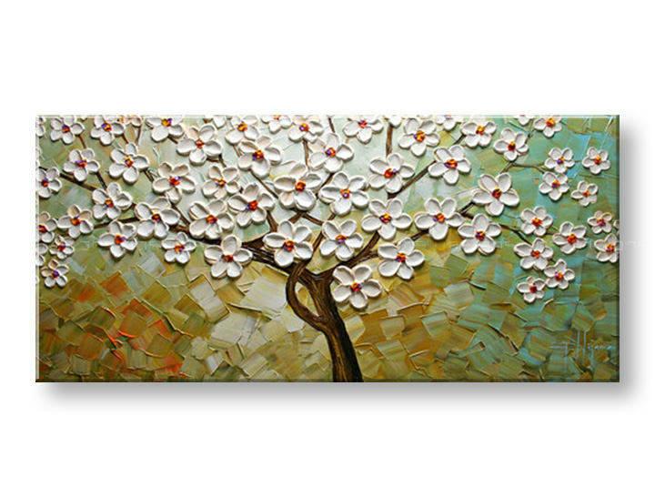 Ručně malovaný obraz 1 dílný STROM BI0062E1 malované obrazy BIANCA