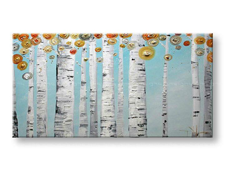 Ručně malovaný obraz 1 dílný STROMY BI0063E1 malované obrazy BIANCA