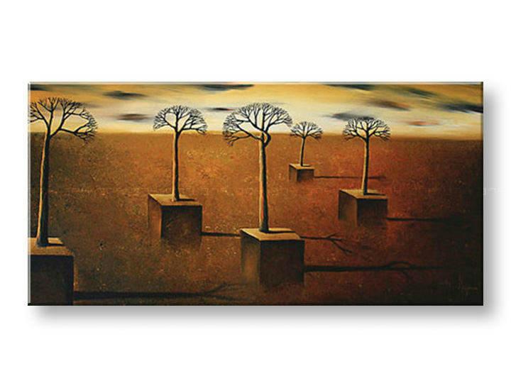 Ručně malovaný obraz 1 dílný ZEMĚ BI0065E1 malované obrazy BIANCA