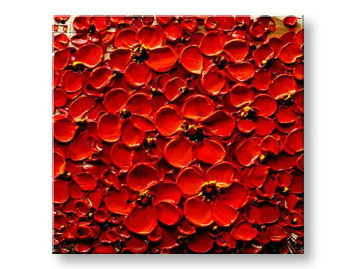 Ručně malovaný obraz 1 dílný KVĚTY BI0073E1 malované obrazy BIANCA