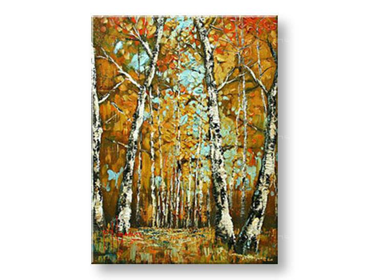 Ručně malovaný obraz 1 dílný STROMY BI0082E1 malované obrazy BIANCA