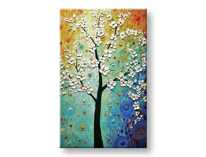 Ručně malovaný obraz 1 dílný STROM BI0083E1 malované obrazy BIANCA