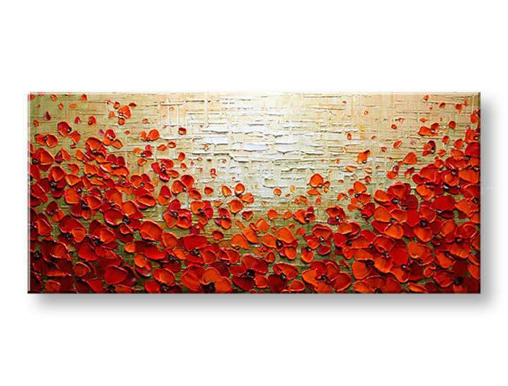 Ručně malovaný obraz 1 dílný KVĚTY BI0085E1 malované obrazy BIANCA