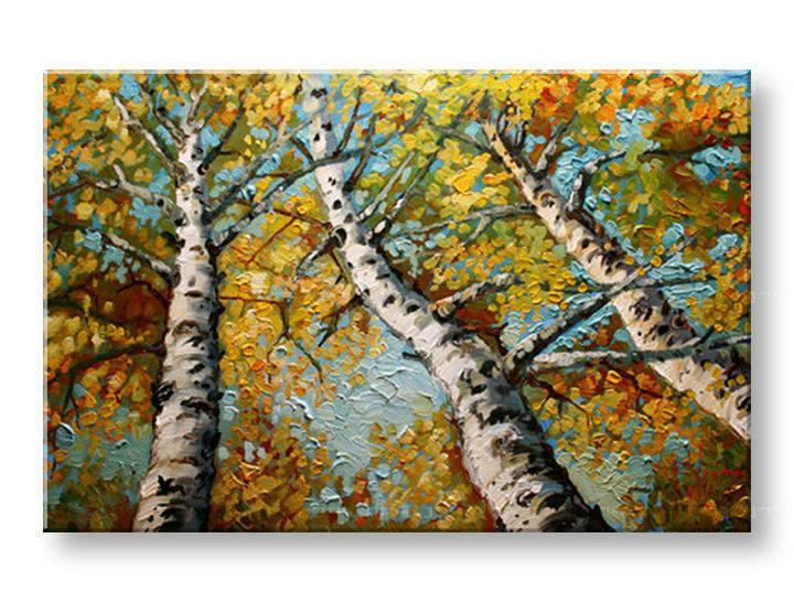 Ručně malovaný obraz 1 dílný STROMY BI0087E1 malované obrazy BIANCA