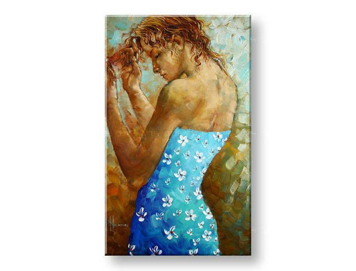Ručně malovaný obraz 1 dílný ŽENA BI0090E1 malované obrazy BIANCA
